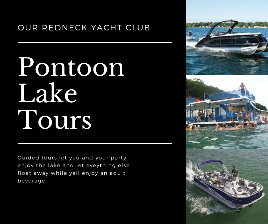 Pontoon lake tour flyer